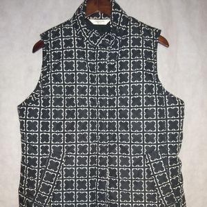Liz Claiborne Black/White Vest Size L/G